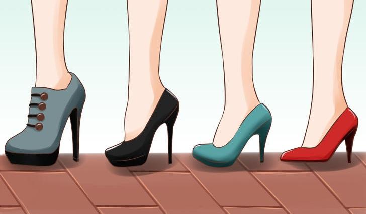 ضرر کفش های پاشنه بلند