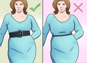 ست کردن لباس برای کسانی که شکم بزرگی دارند